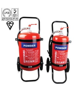 25Kg NAFFCO Mobile Dry Powder Fire Extinguishers