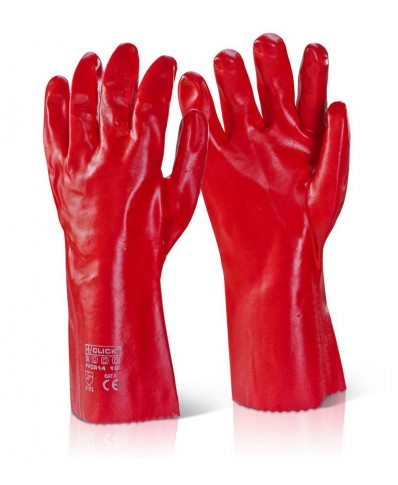 PVC Red Hand Gloves