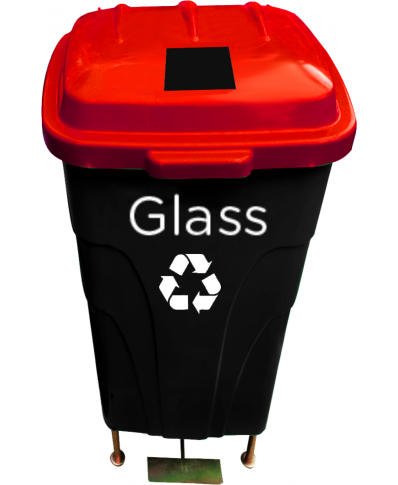 60lt Recycle Waste Bin (squareslit)