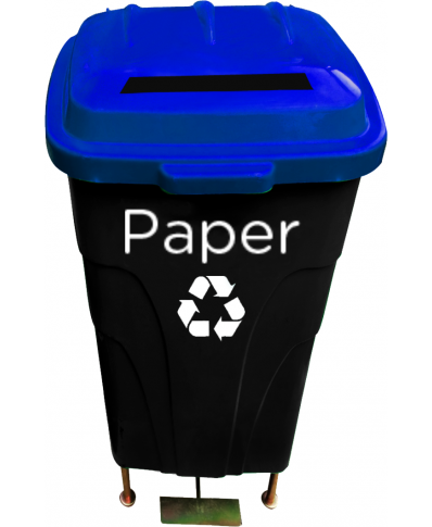60lt Recycle Waste Bin (straightslit)