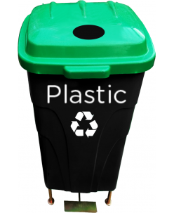 Recycle Waste Bin-round slit