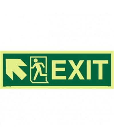 Knoxx Photoluminscent Exit Sign Running Man Symbol Arrow