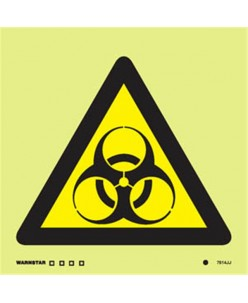 Bio hazard symbol-Photoluminscent
