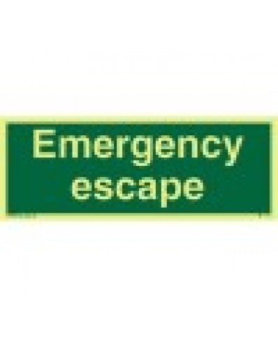 Emergency Escape Sign(text only)-Photoluminscent