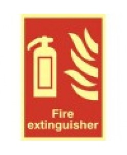 Fire Extinguisher Sign-Photoluminscent