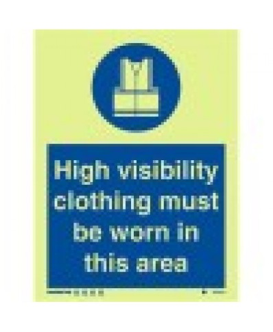 Wear Protective Clothing Sign- Photoluminscent