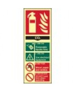 How To Use Co2 Extinguisher Sign-Photoluminscent