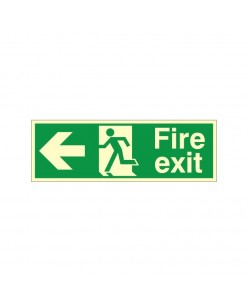 Exit Left Sign-Photoluminscent